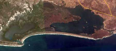 Satellite view of Chacahua