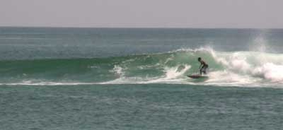 surfing at playa Chacahua
