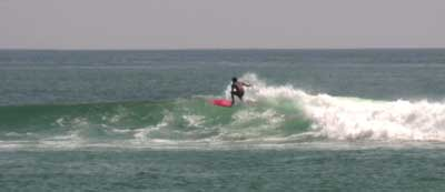 surfing at playa Chacahua 1