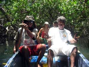 Boat tour in the mangroves